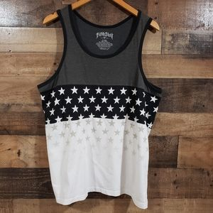 Fifth Sun star print striped tank top